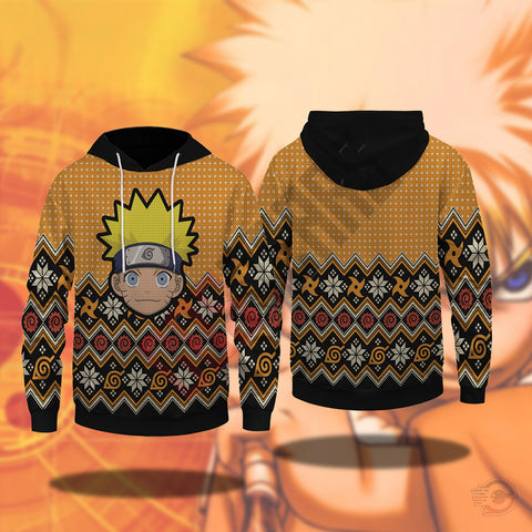 Naruto Face Pullover Hoodie