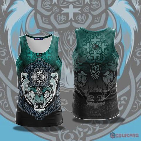Neo-Traditional Celtic Bear Tank Top