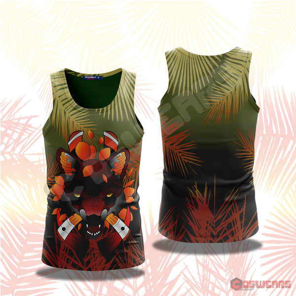 Neo-Traditional Fox Tank Top