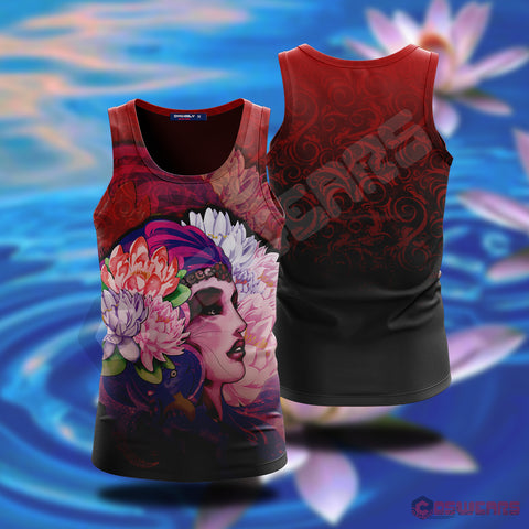 Neo-Traditional Mystic Lady Tank Top