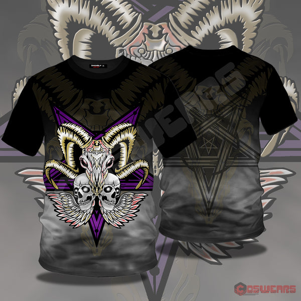 Neo-Traditional Ram Totem T-Shirt