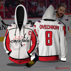 National Hockey League - Ovechkin Jersey Zipped Hoodie