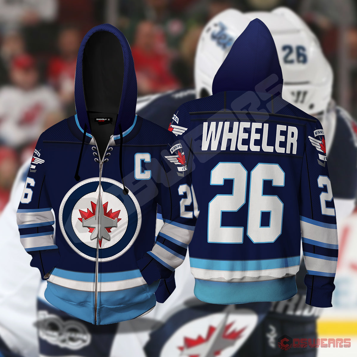 National Hockey League - Blake Wheeler Zipped Hoodie
