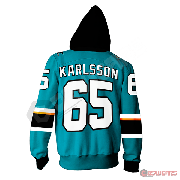 National Hockey League - Erik Karlsson Zipped Hoodie