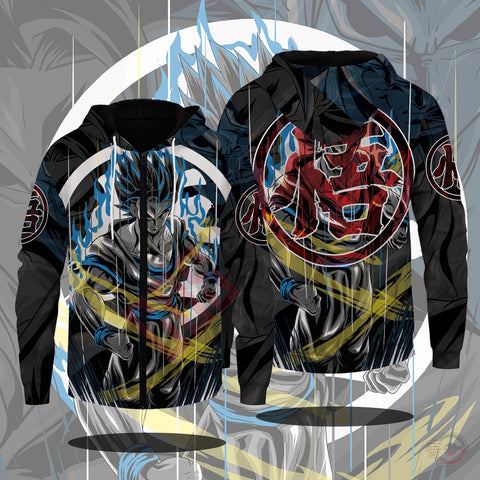 Original Designs : Goku Reborn Zipped Hoodie