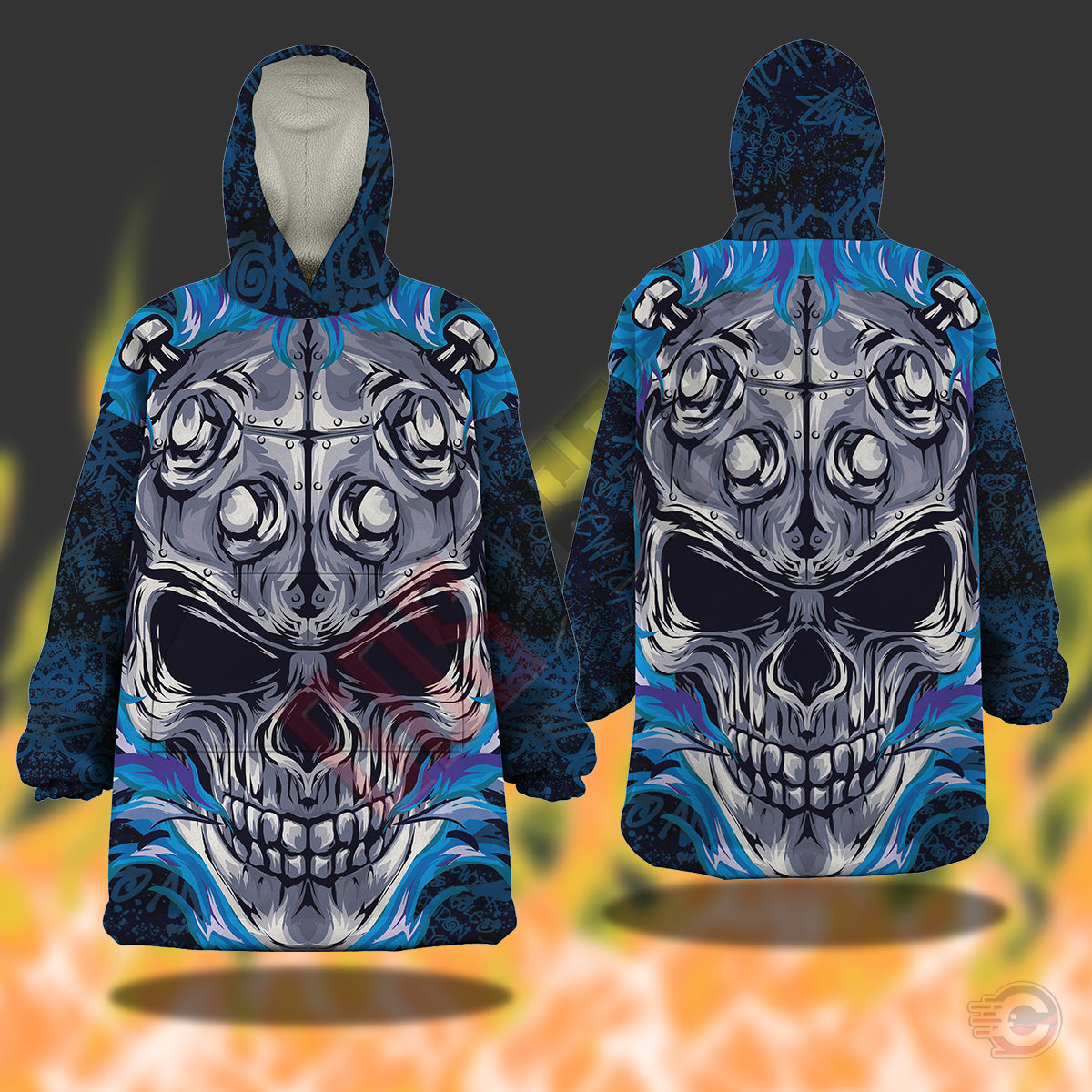 Original Designs : Flaming Skull Snug