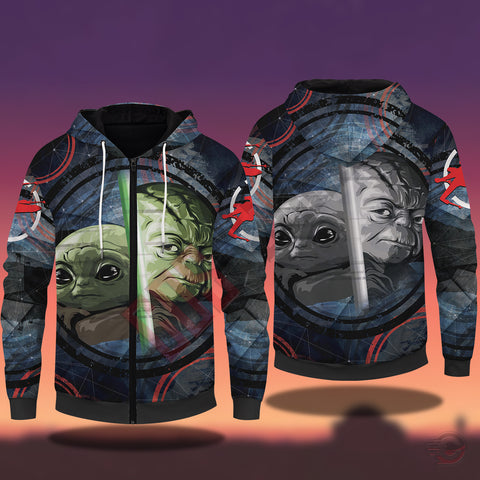 Original Designs : Baby Yoda Zipped Hoodie