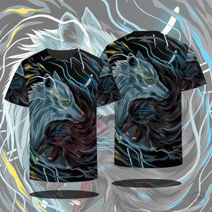 Original Designs : Yin Yang Wolves T-Shirt