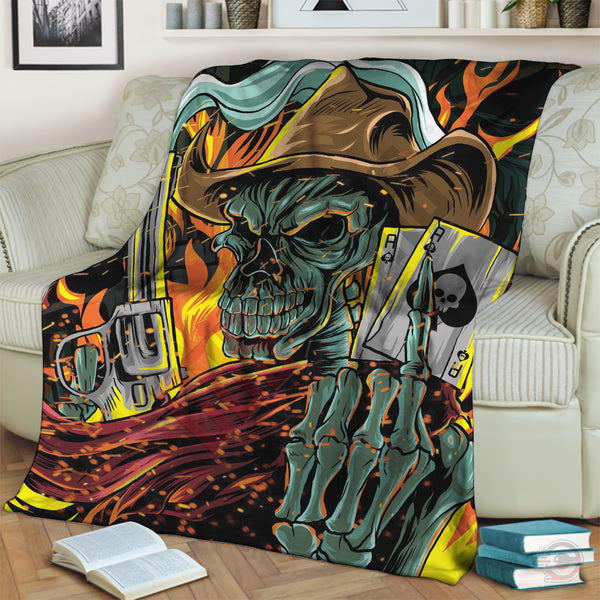 Original Designs : Ace of Skulls Blanket