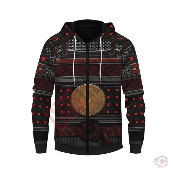 Original Designs : Samurai Armor Zipped Hoodie
