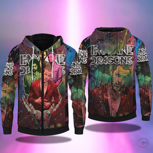 Original Designs : Imagine Dragons Zipped Hoodie