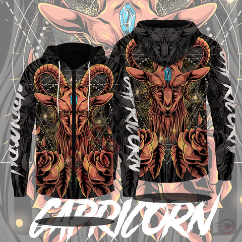 Original Designs : Capricorn Zipped Hoodie