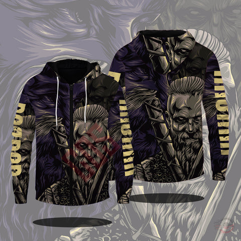 Original Design : Ragnar Lothbrok Zipped Hoodie