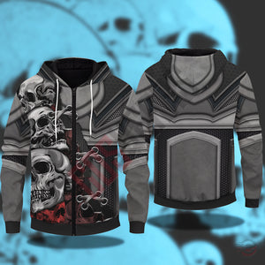 Original Design : Skull 3D Outfit Zipped Hoodie