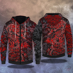 Original Design : Dragon Tattoo Zipped Hoodie