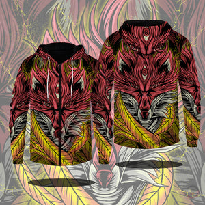 Original Design : RED FOX Zipped Hoodie