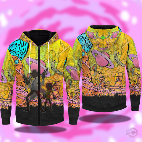 Rick and Morty Adventures Zipped Hoodie