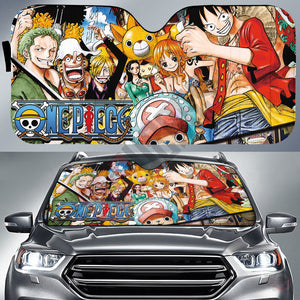 One Piece : The Pirate Crew Car Sun Shade