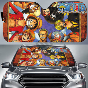 One Piece : Brothers In Arms Car Sun Shade