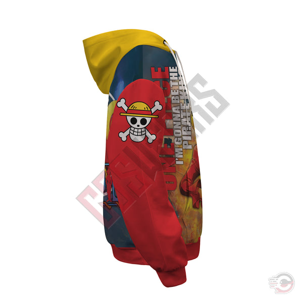 One Piece : Luffy Pullover Hoodie