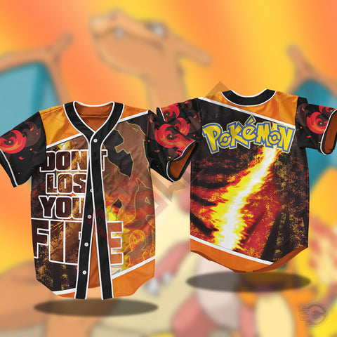 Pokemon : Charizard Jersey Shirt