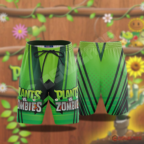 Plants VS Zombies Inspired Beach Shorts