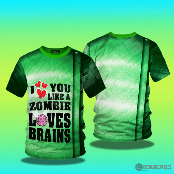 Plants Vs Zombies - I Love Brains Inspired T-Shirt