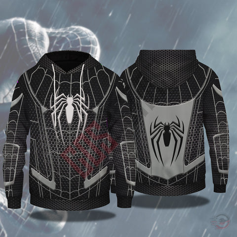 Spiderman Far From Home Black Suit Pullover Hoodie