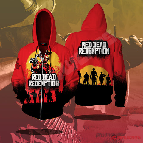 Red Dead Redemption Zipped Hoodie