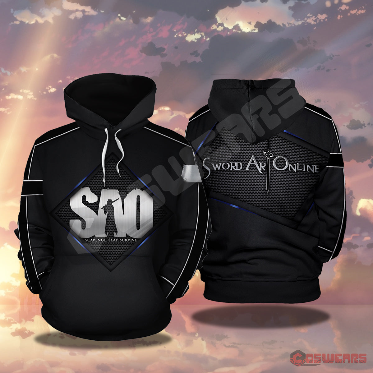 Sword Art Online: Sword Art Logo Inspired Pullover Hoodie