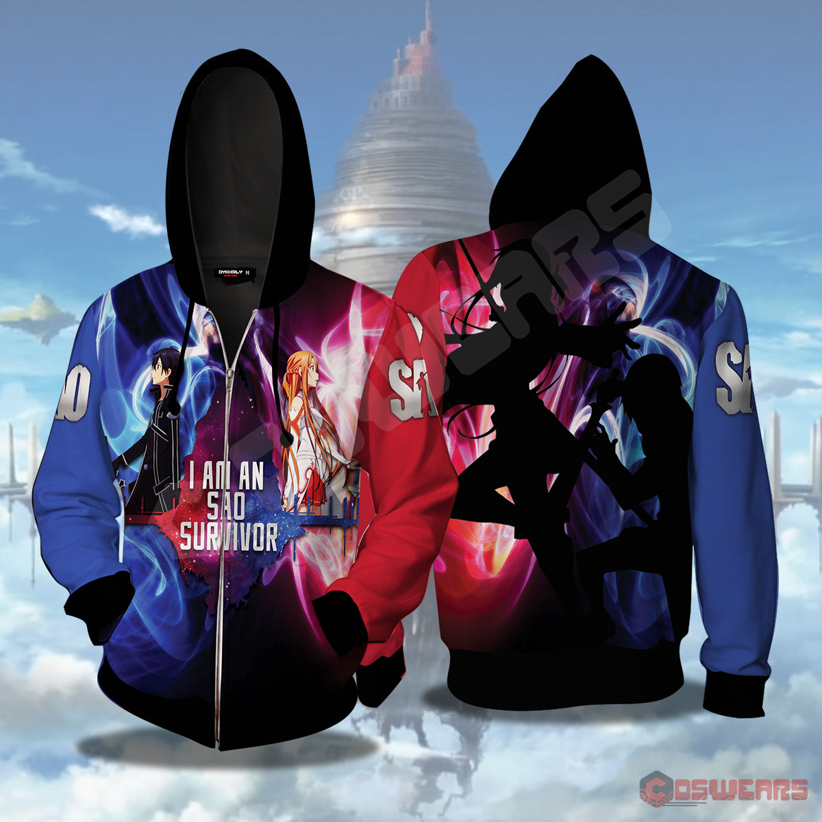 Sword Art Online: Survivor Zipped Hoodie