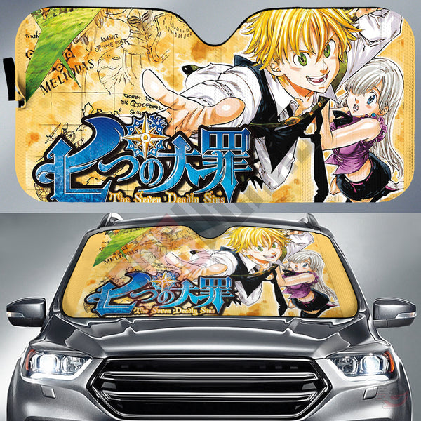 Seven Deadly Sins : Nanatsu no Taizai Car Sun Shade