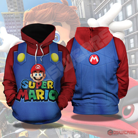 Super Mario Odyssey: Mario Inspired Pullover Hoodie