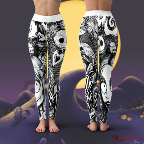 Tim Burton : Jack And Sally Leggings