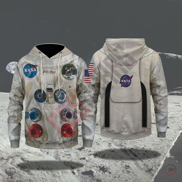 3d Suits : Armstrong Suit NASA Pullover Hoodie