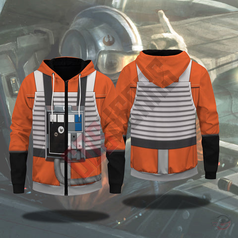 Space Suit Collection : X Wing Pilot Suit Zipped Hoodie