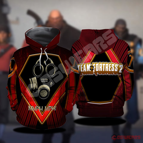 Team Fortress : Optical Mask Inspired Pullover Hoodie