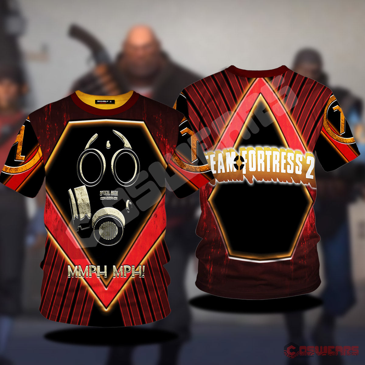 Team Fortress : Optical Mask Inspired T-Shirt