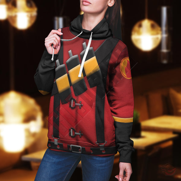 Team Fortress : Pyro Team Fortress Pullover Hoodie