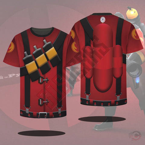 Team Fortress : Pyro Team Fortress T-Shirt