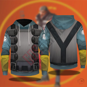 Team Fortress : Demoman Team Fortress Pullover Hoodie