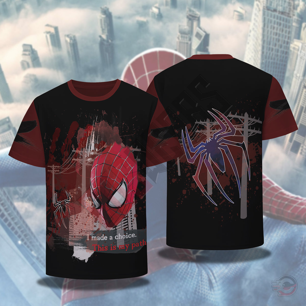 Spiderman Trash Polka T-Shirt