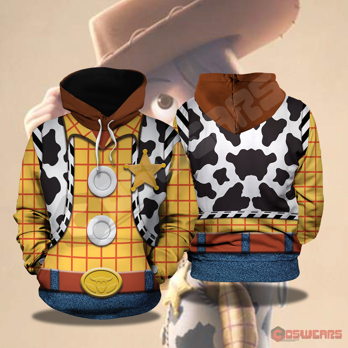 Toy Story : Woody Inspired Pullover Hoodie