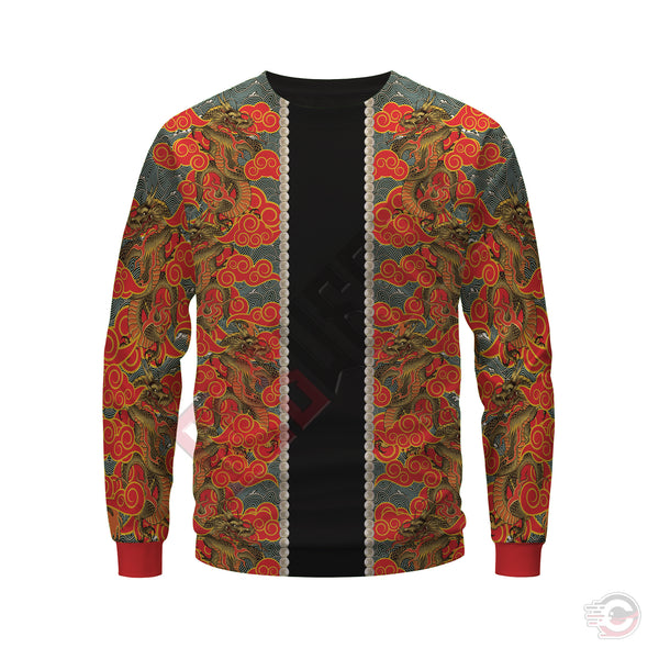3D Skin Art : Oriental Japanese Design Sweatshirt