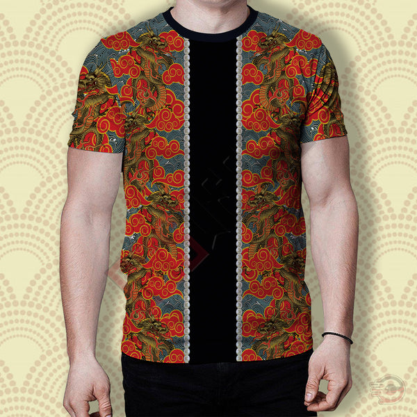 3D Skin Art : Oriental Japanese Design T-Shirt