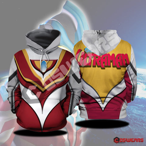 Ultraman Red Inspired Pullover Hoodie