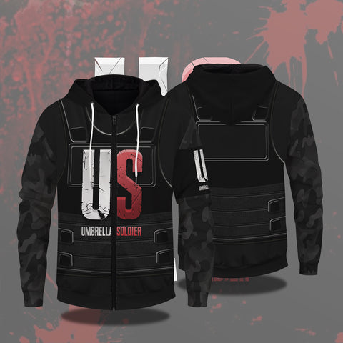 The Umbrella Soldier Zipped Hoodie
