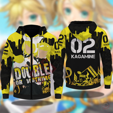 Vocaloid : Kagamine Twins Zipped Hoodie