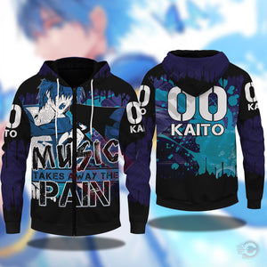 Vocaloid : Kaito Zipped Hoodie