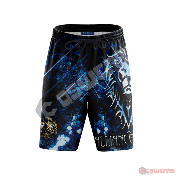 Warcraft : Alliance Inspired Beach Shorts